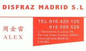 Disfraz Madrid