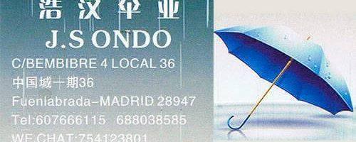Paraguas y complementos J.S.Ondo venta al por mayor